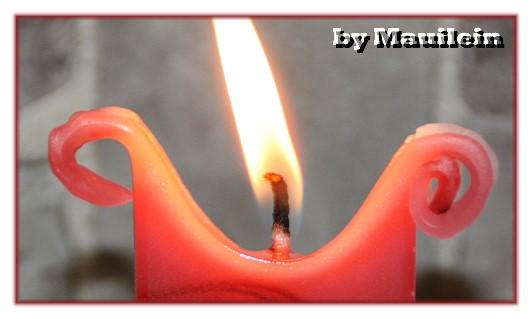 kerze brennt nicht richtig
