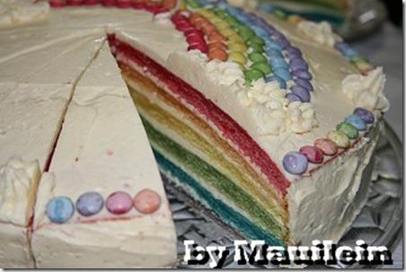 wie mache ich einen Regenbogenkuchen, Regenbogentorte