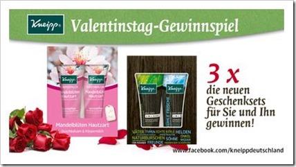 Kneipp Valentinstags Gewinnspiel