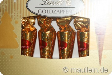 Goldene Dekorationen Lindt